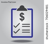 invoice pad icon  designed for... | Shutterstock .eps vector #706029481
