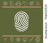 fingerprint. scanned finger icon