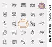 vintage retro line icon set | Shutterstock .eps vector #706034035