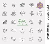 nature line icon set | Shutterstock .eps vector #706034665