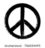 grunge peace sign.vector dirty... | Shutterstock .eps vector #706054495