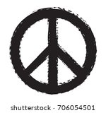 grunge peace sign.vector dirty... | Shutterstock .eps vector #706054501