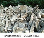 Landfill Of Concrete Waste