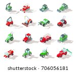 set of agricultural machinery... | Shutterstock .eps vector #706056181