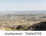 view of phoenix  arizona from... | Shutterstock . vector #706063795