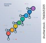 infographics timeline template... | Shutterstock .eps vector #706065205