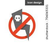 icon dangerous electricity | Shutterstock .eps vector #706065331