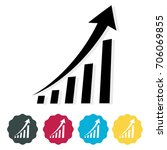 business growth icon | Shutterstock .eps vector #706069855