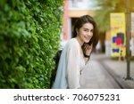summer sunny lifestyle fashion... | Shutterstock . vector #706075231