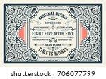 old advertising design | Shutterstock .eps vector #706077799