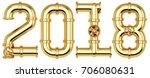 new 2018 year from golden gas...   Shutterstock . vector #706080631