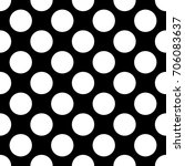a seamless black polka dot... | Shutterstock . vector #706083637