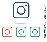 trendy digital camera web icon... | Shutterstock .eps vector #706086931