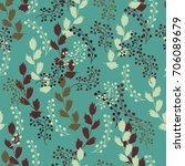 floral  seamless pattern. hand... | Shutterstock .eps vector #706089679