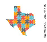texas map rebuild puzzle... | Shutterstock .eps vector #706091545