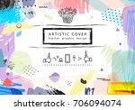 creative universal floral... | Shutterstock .eps vector #706094074