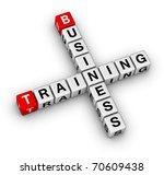 business training - stock photo