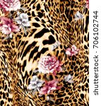 Abstract Animal Print  Leopard...