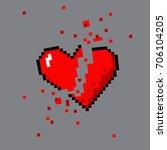vector pixel art 8 bit style... | Shutterstock .eps vector #706104205