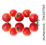 Tomato Kaleidoscope On A White...