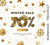 winter sale 70 percent off ... | Shutterstock .eps vector #706110127