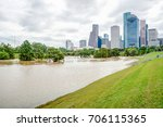 downtown houston at daytime...   Shutterstock . vector #706115365