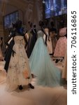 some ball gowns exhibited in...   Shutterstock . vector #706116865
