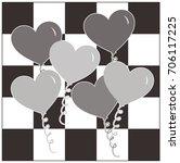 Heart Balloons   Checkerboard...
