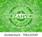 zany realistic green emblem.... | Shutterstock .eps vector #706122439