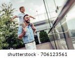 beautiful family is spending... | Shutterstock . vector #706123561
