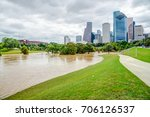 downtown houston at daytime... | Shutterstock . vector #706126537