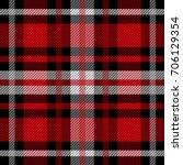 seamless tartan plaid pattern.... | Shutterstock .eps vector #706129354