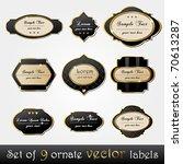 vector set of elegant  dark ... | Shutterstock .eps vector #70613287