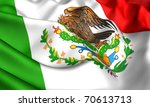 flag of mexico. close up. | Shutterstock . vector #70613713
