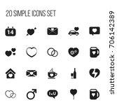set of 20 editable love icons....