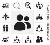 set of 12 editable community... | Shutterstock .eps vector #706142947