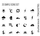 set of 20 editable air icons....