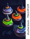Witch Hat Cupcakes Halloween...