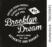 vintage  brooklyn typography... | Shutterstock .eps vector #706153651