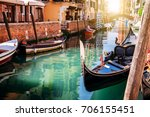 beautiful venice city at... | Shutterstock . vector #706155451