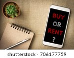 buy or rent  text message on... | Shutterstock . vector #706177759