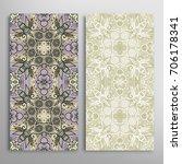 vertical seamless patterns set  ... | Shutterstock .eps vector #706178341