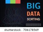 big data sorting algoritm... | Shutterstock .eps vector #706178569