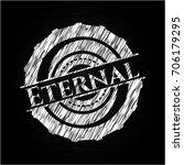 eternal written on a chalkboard | Shutterstock .eps vector #706179295
