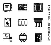 chip icons set. simple style... | Shutterstock .eps vector #706184515