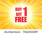 buy one and get one text on... | Shutterstock .eps vector #706203289