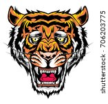 tiger head | Shutterstock .eps vector #706203775
