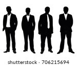 silhouette male businessman | Shutterstock .eps vector #706215694