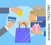 buy online vector | Shutterstock .eps vector #706217881