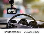 cctv car camera and an accident ... | Shutterstock . vector #706218529